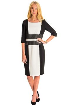 Saffran klänning vit-svart från Lilla butiken