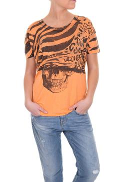 Relgions bommuls t-shirt i orange